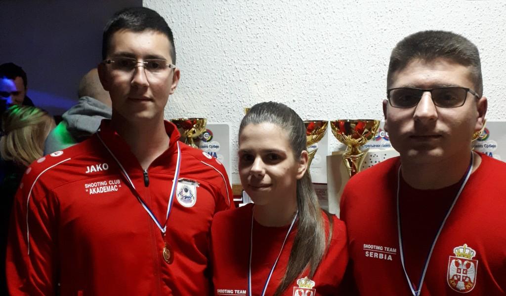Две златне и једна бронзана медаља за кадете Војне академије