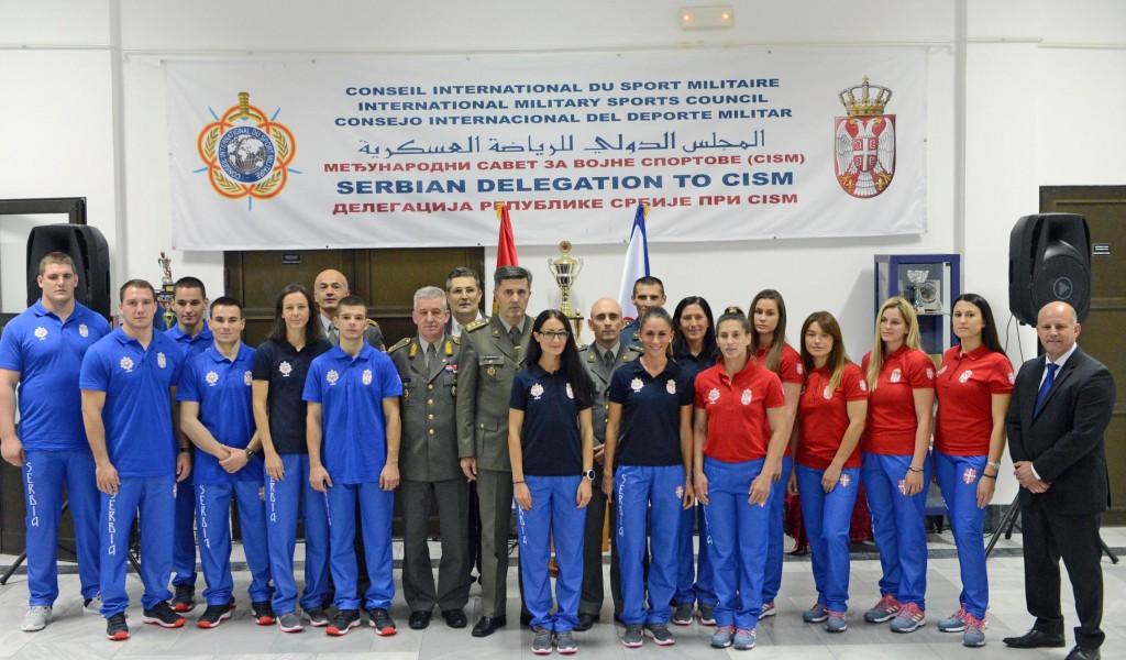 Свечани испраћај војних спортиста на светска првенства у џудоу и маратону