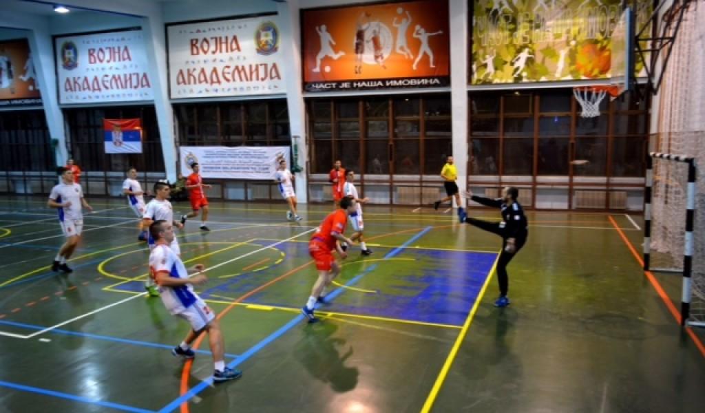 Prijateljska utakmica rukometne sekcije Vojne akademije i juniorske reprezentacije Beograda