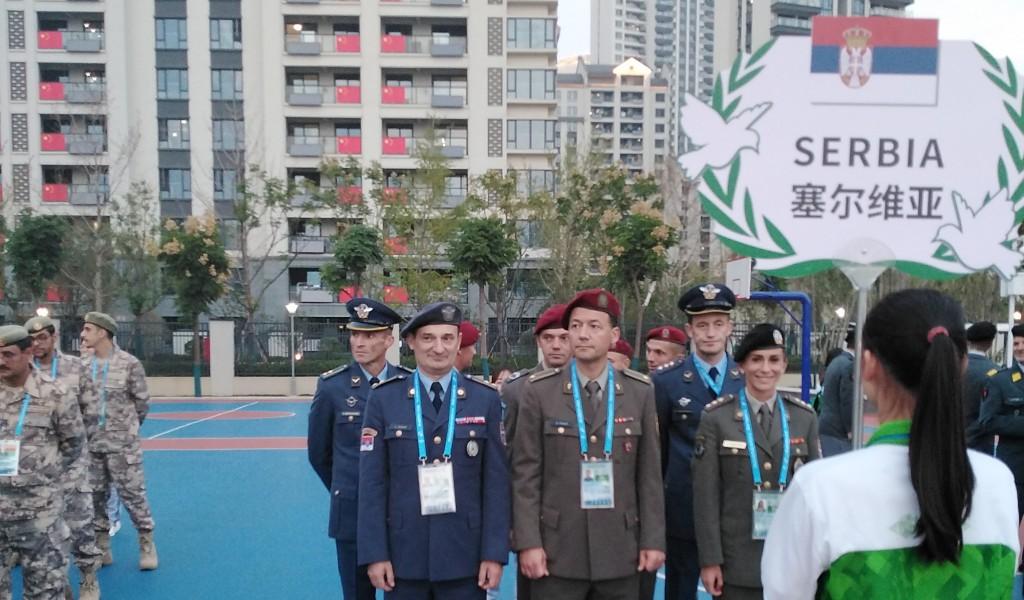 Церемонија дочека репрезентације Војске Србије у Кини