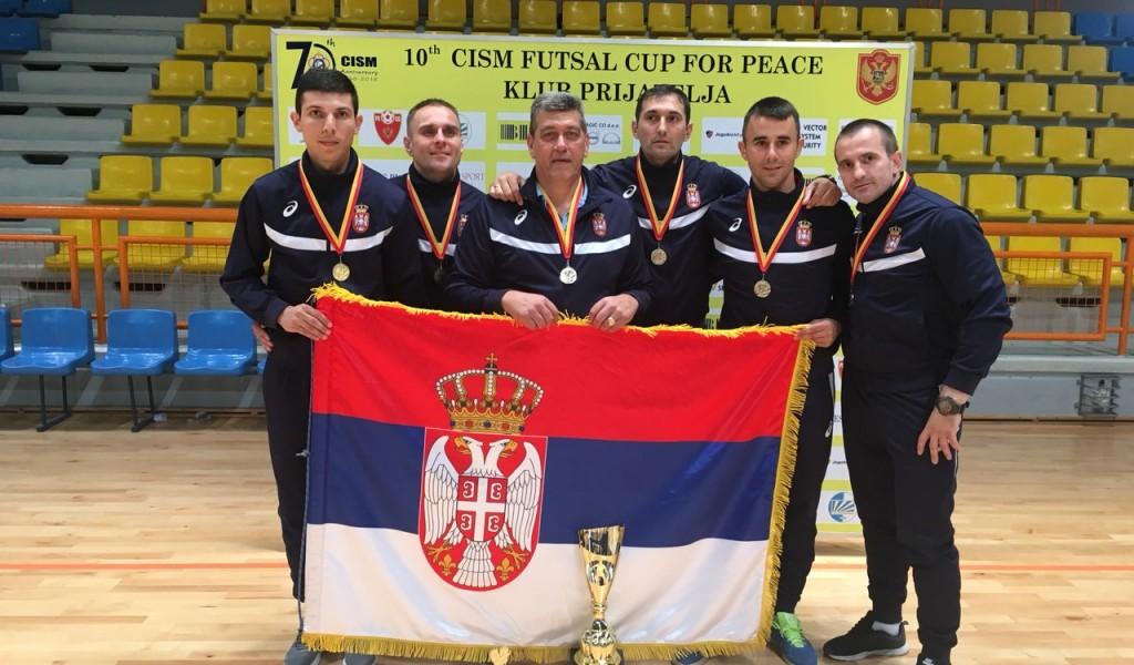 Војна футсал репрезентација Србије освојила златну медаљу у Колашину