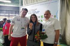 Bronza na Svetskom kupu za Jasminu Milovanović iz Sportske jedinice Ministarstva odbrane i Vojske Srbije